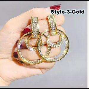 18k Yellow Gold Plated Fashion Hoop Earrings